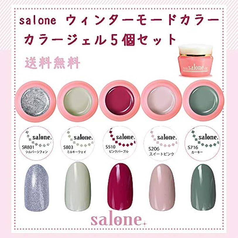 章チャペル特性【送料無料 日本製】Salone モード カラージェル5個セット ネイルのマストカラーオシャレなモードカラー