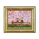 開田風童 「桜さくら」 ジグレー版画(絵画)  12-3