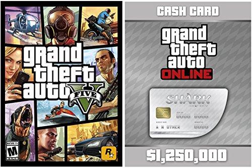 [価格改定] Grand Theft Auto V (日本語版) + Great White Shark Cash Card (GTAマネー$1,250,000) Pack|オンラインコード版
