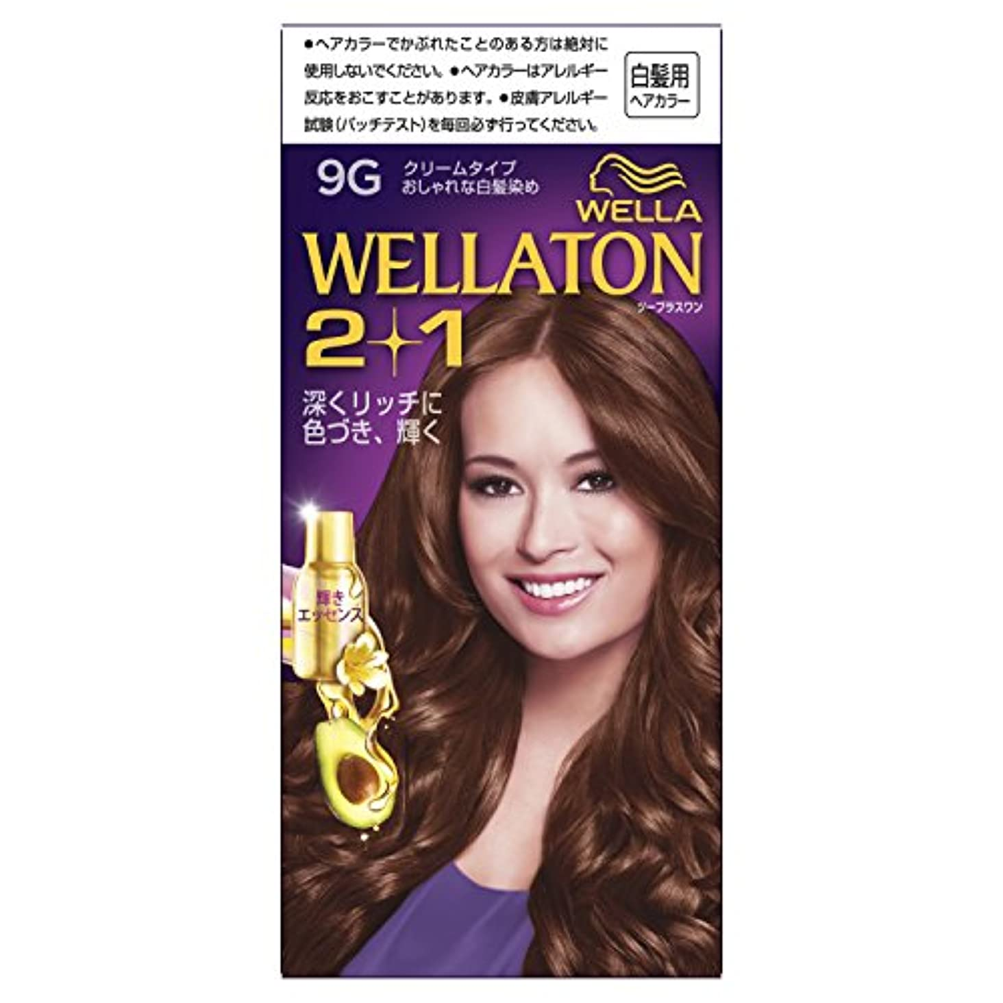 ライトニング曲液化するウエラトーン2+1 クリームタイプ 9G [医薬部外品](おしゃれな白髪染め)