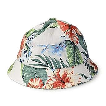 スタジオトムス HALLO SUPLLY 帽子 男女兼用 メンズ レディース FLOWER METRO 花柄 アロハ メトロハット (ホワイト)