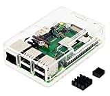 Raspberry Pi3 Model B+ ボード&ケースセット 3ple Decker対応-Physical Computing Lab (Economy, Clear)