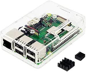 Raspberry Pi3 Model B+ ボード&ケースセット 3ple Decker対応-Physical Computing Lab (Clear)