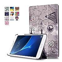 Samsung Galaxy Tab A 7.0 SM-T280 / SM-T285 専用ケース 三つ折 カバー 薄型 軽量型 スタンド機能 PUレザーケース -タワー