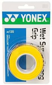 ヨネックス(YONEX) ウェットスーパーストロンググリップ(3本入) イエロー AC135 004