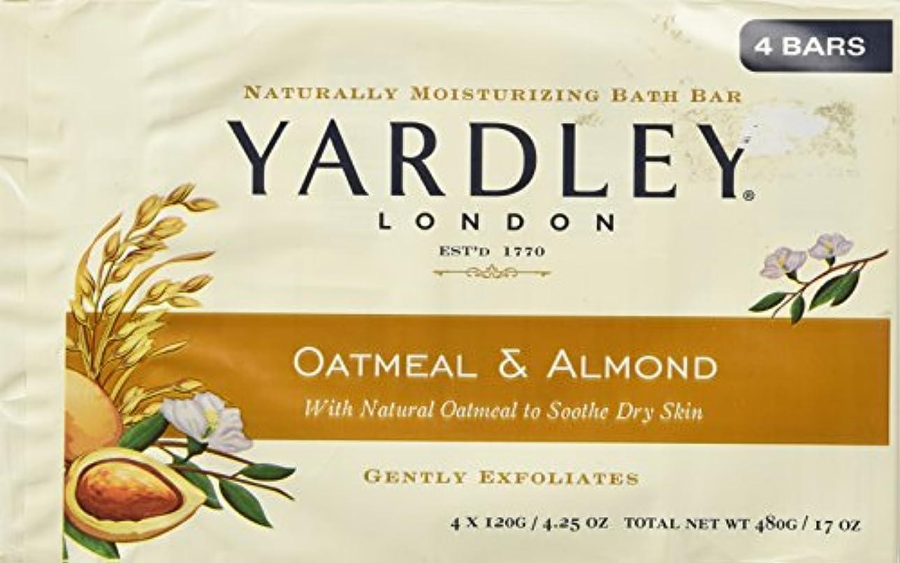 疲れた撃退するフィードオンYardley of London Naturally Moisturizing Bar Soap Oatmeal & Almond 3+1 Free by Yardley