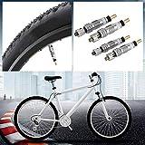 k-outdoor 仏式バルブコア レンチツール キット 交換 自転車 MTB ロードバイク タイヤ エアバルブ 交換用 (4個) 画像
