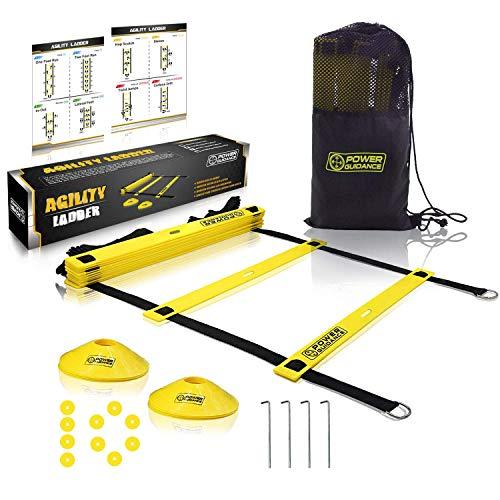 POWER GUIDANCE トレーニングラダー 野球 サッカー テニス 練習 スピードラダー 6m プレート 12枚 収納袋付き 敏捷性 瞬発力 柔軟性 アップ