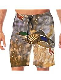 メンズ水着 ビーチショーツ ショートパンツ アヒル スイムショーツ サーフトランクス 速乾 水陸両用 調節可能