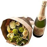 翌日配達お花屋さん ワインと花束 ギフトセット スパークリングワイン 天使のアスティ