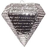 Extra LargeシルバーダイヤモンドPinataウェディングパーティーFavor