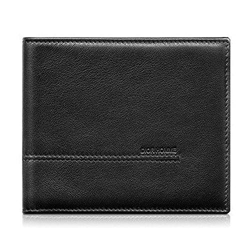 DIOR HOMME ディオールオム カーフスキン二つ折り財布 (ブラック)【2CIBH001VEA-900U】
