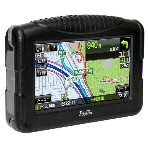 4.3インチTFT液晶 防水仕様(IPX5)バイク用ポータブルナビゲーション ゼンリン地図(8GB)搭載 FF-BKN432MC(RM-XR432MC後継品)