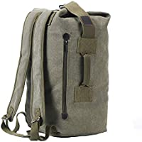 Military Duffel Bag Top Load Double Strap Canvas Backpack Army Travel