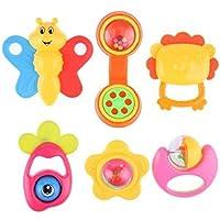 RaiFu ラトル おもちゃ ジングル ベルパズル 赤ちゃん かわいい 漫画 手紙 教育 6個