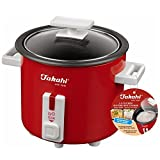 Takahi 1.5-cup Mini Electric Rice Cooker 0.3-Litre, Red