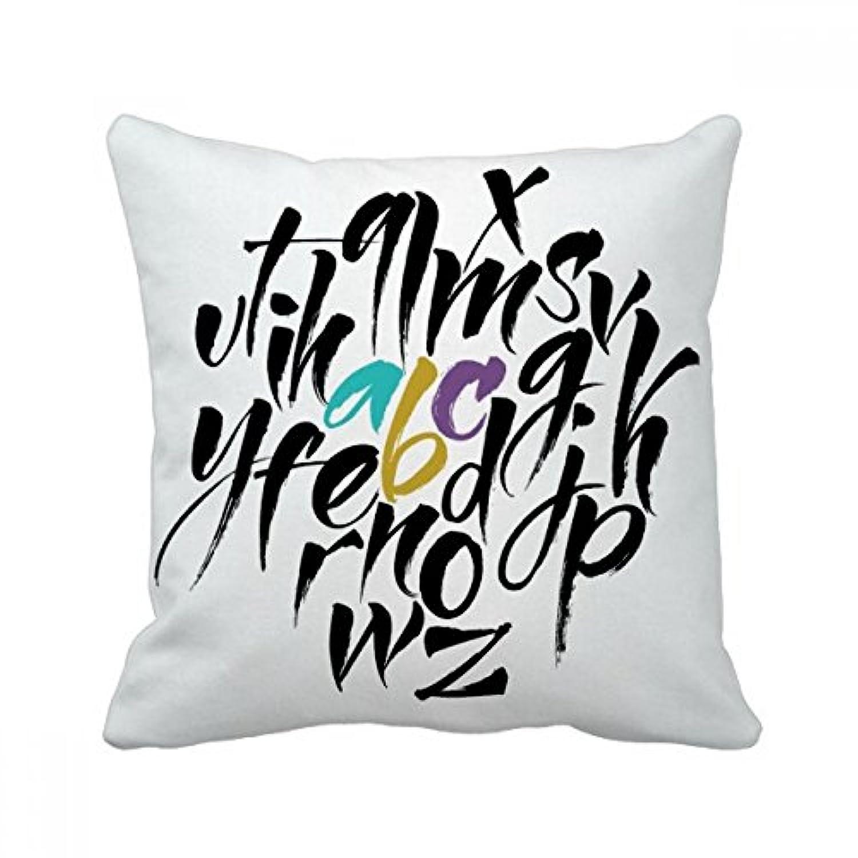 zのアルファベットの引用のスタイルを 枕を挿入して正方形の家のソファのクッション?カバーを放り投げてください 50cm x 50cm