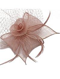 帽子ヘアアクセサリーリネンメッシュ素材結婚式のアクセサリー女性の帽子 ( 色 : 40センチメートル-24ワット )