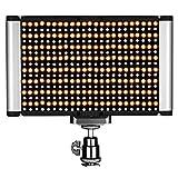 Neewer 調光可能な二色LED プロのカメラビデオライトにある標準コールドシュー付き ポートレートプロダクト写真、スタジオ、YouTube屋外ビデオ撮影、280個のLEDビーズ、3200-5600K、CRI95+に対応