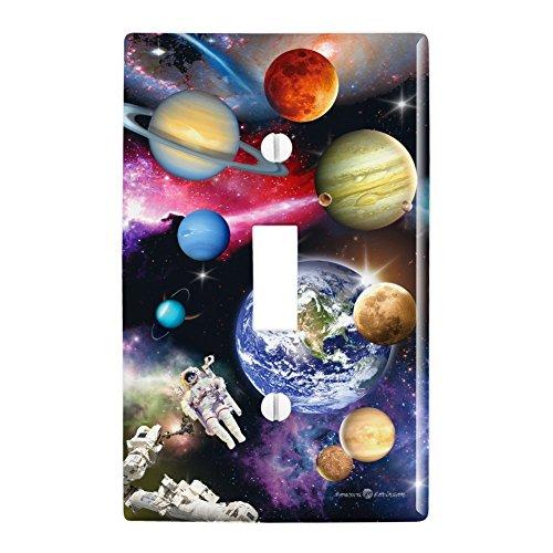 太陽系惑星宇宙地球土星木星火星プラスチック製の壁の装飾ライトスイッチプレートカバーをトグル