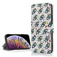 目 iPhone XR ケース 手帳型 PUレザー Tpuケース 薄型 耐衝撃 マグネット スタンド カード収納 財布型