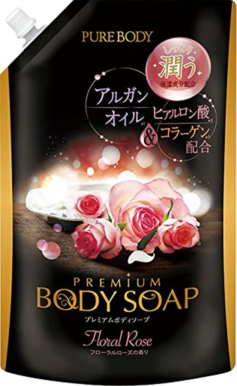 助言ウサギサワーピュアボディプレミアム ボディソープ ピュアローズの香り 詰替 840g