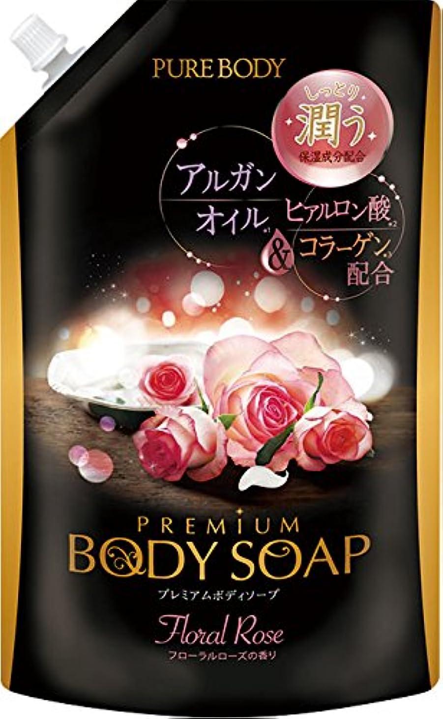 くぼみ流出レトルトピュアボディプレミアムボディソープ シャボンの香り 詰替 大容量 840ML