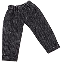 Baosity 2色選ぶ ファッションドール ミニブライスドール人形用 デニムジーンズ パンツ - ブラック