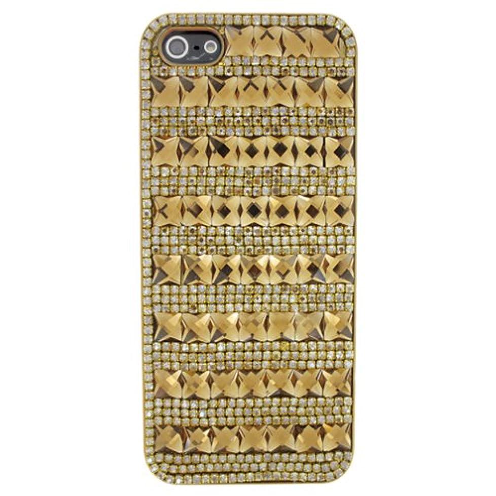 酔う機関暫定MORE CRYSTAL iPhone5s/5 フルペーストデコレーションケース ゴールド 12IA9-33d-GLD