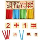 木製 数字スティック 玩具 積み木 数あそび 計算おもちゃ 算数セット 勉強 学習教材 入学祝 かけざん 割り算 足し算 引き算 数学パズル 知育 知恵 学前教育玩具 プレゼント