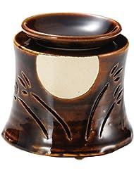 山下工芸 常滑焼 佳窯アメ釉十五夜茶香炉 11×11.5×11.5cm 13045760
