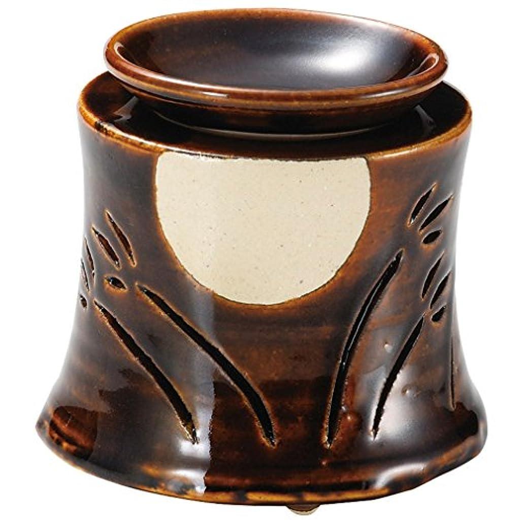 国民難民してはいけません山下工芸 常滑焼 佳窯アメ釉十五夜茶香炉 11×11.5×11.5cm 13045760