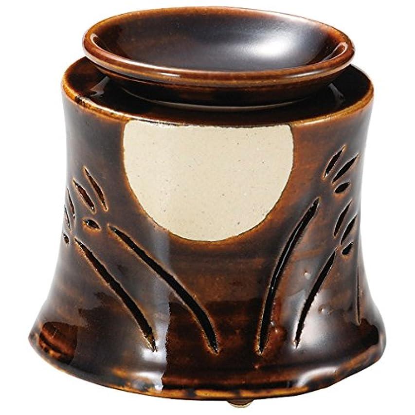 鷹懺悔キロメートル山下工芸 常滑焼 佳窯アメ釉十五夜茶香炉 11×11.5×11.5cm 13045760