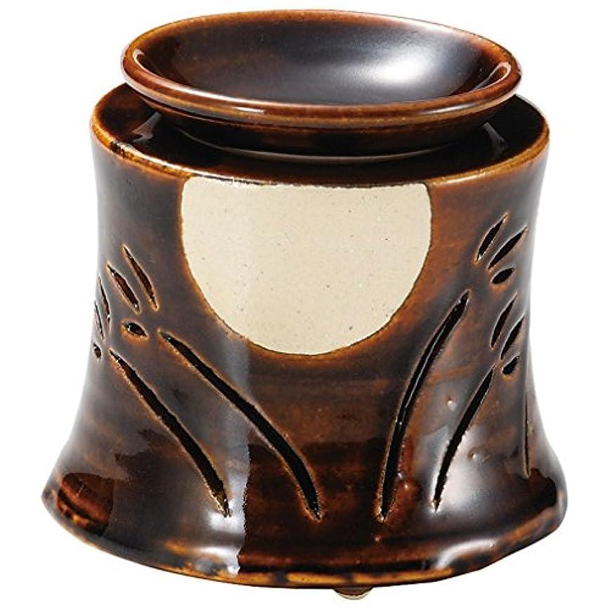 霧悪意導入する山下工芸 常滑焼 佳窯アメ釉十五夜茶香炉 11×11.5×11.5cm 13045760