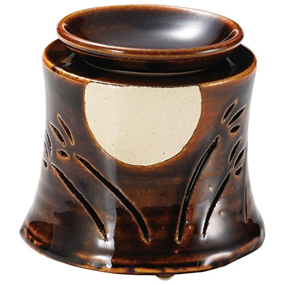 裏切り者ランプヤギ山下工芸 常滑焼 佳窯アメ釉十五夜茶香炉 11×11.5×11.5cm 13045760