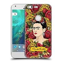 Official Frida Kahlo ポートレート・パターン レッド・フローラル ハードバックケース Google Pixel XL