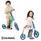 Vokul バランスバイク トレーニングバイク 2輪 3歳~5歳子ども用 キックスクーター キックボード 360度転換 ブルー