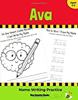Ava Name Writing Practice: Personalized Name Writing Activities for Pre-schoolers to Kindergarteners