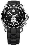 ビクトリノックス Victorinox Swiss Army Men's 241440 Maverick GS Dual Time Black Double Date Dial Watch 男性 メンズ 腕時計 【並行輸入品】