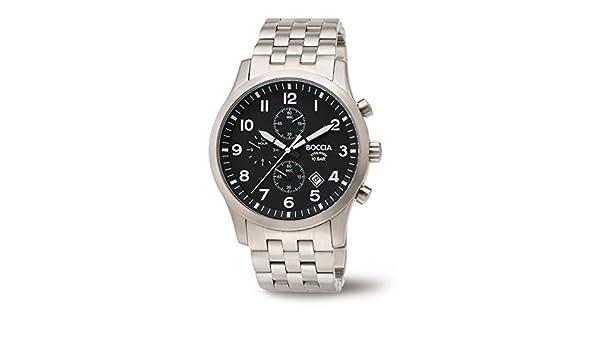 216e86ad6d Amazon | 3755 – 02 Boccia Titaniumメンズクロノグラフ腕時計 | メンズ腕時計 | 腕時計 通販