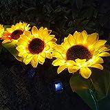 Solar LED Light Sunflower Light Outdoor Waterproof Fairy Light for Garden Lawn Party