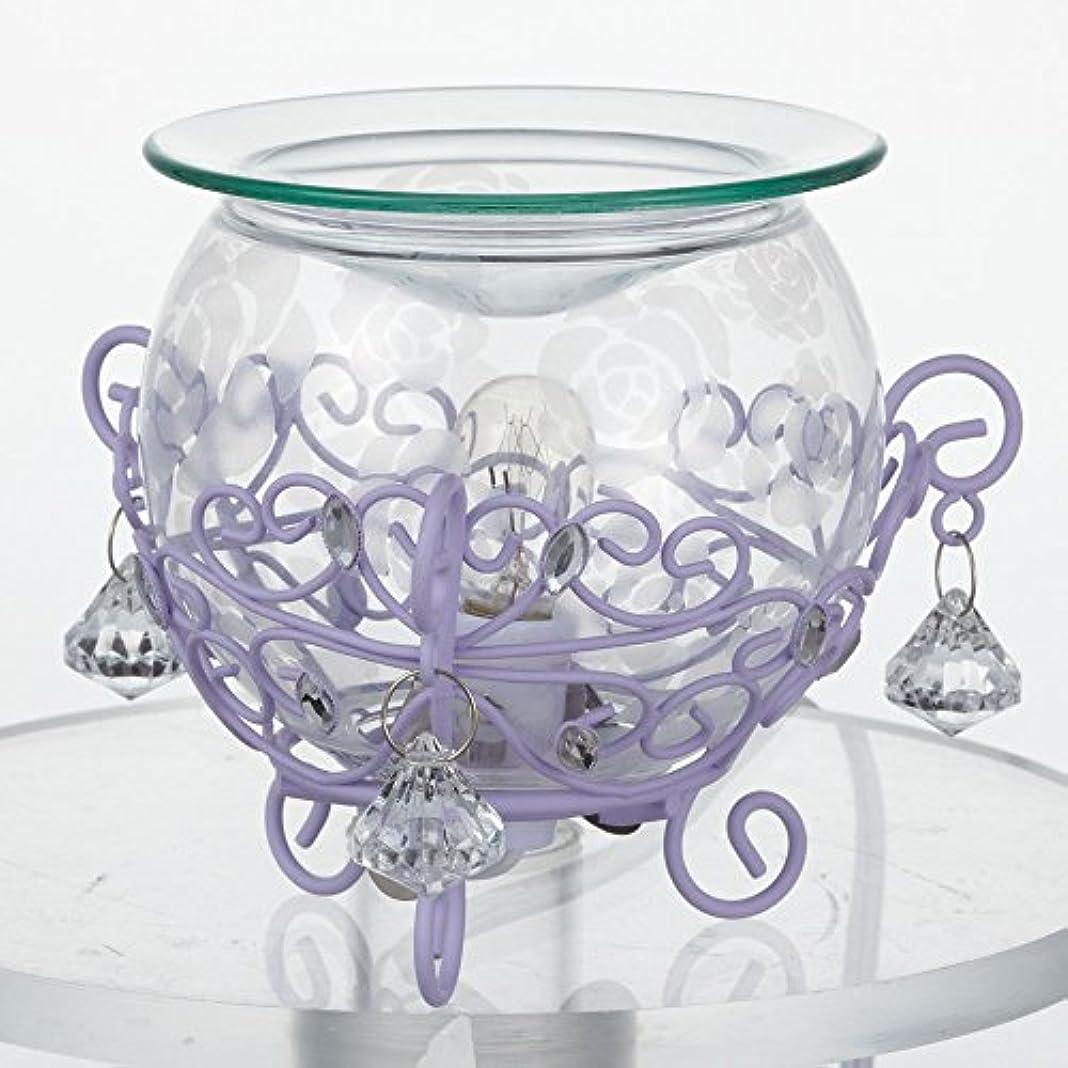 尊敬する一見商品ローズガラスアロマライト クリア×パープル?20554