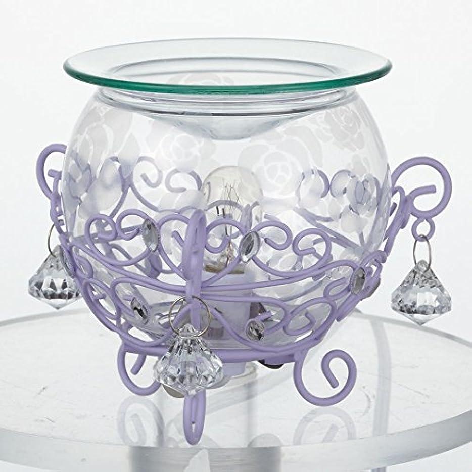 デイジー円形寸法ローズガラスアロマライト クリア×パープル?20554