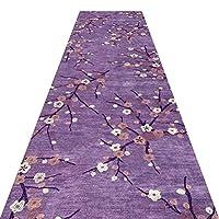 WUFENG 廊下敷きカーペッ 現代の ナチュラル 花柄 切ることができます 滑り止め カーペット 廊下 通路、 複数のサイズ カスタマイズ可能 (色 : B, サイズ さいず : 0.8x7m)