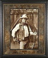 ジョン・ウェイン–The Cowboys–アートプリントポスターbyボブ・ウィロビー, (全体サイズ: 21x 30) (イメージサイズ: 16.75X 14.75) 29x35 Matted Framed