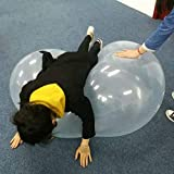 Inflatable Bubble Balloon Ball Funny Beach Ball Exercise Toy Tear-Resistant Soft TPR Ball for Kids Outdoor Play Toy