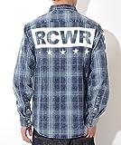ROCAWEAR ロカウェア 長袖シャツ ウォッシュテイスト チェック 厚手Rロゴ刺繍 (RW173W26) 2XL PRINTED