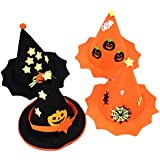 LUOEM ハロウィンデコレーション帽子 キュートなハロウィンパンプキンハット ハロウィンパーティーハット ドレスアップハット 子供と大人用 4点