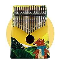 カリンバ マホガニーウッドKOAカリンバは、子供の大人の初心者のための楽器17のキー親指ピアノを塗装します 子供とピアノ初心者に適しています (Color : Yellow, Size : 13x3x18cm)