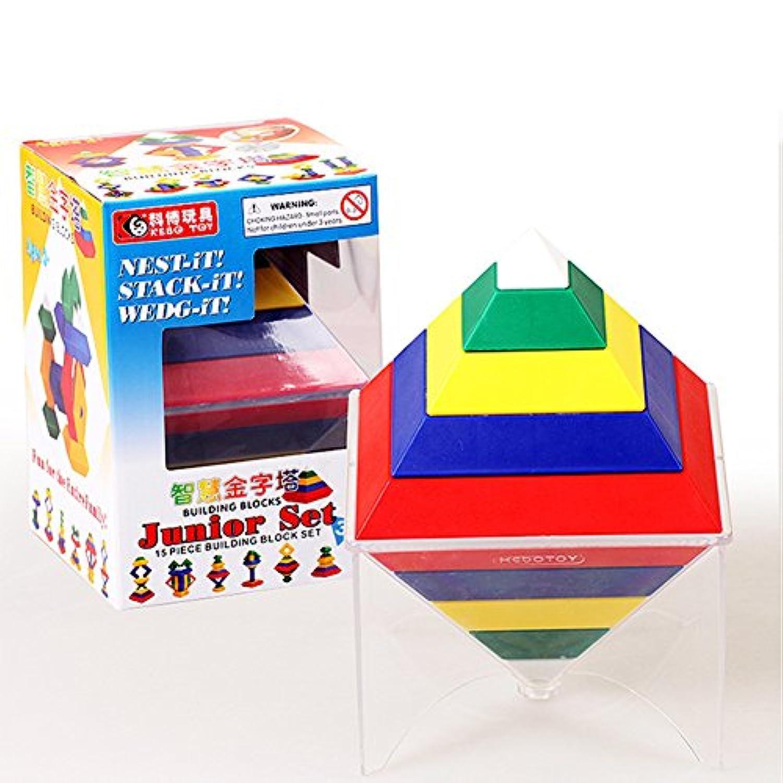 Building BlocksおもちゃRhombus Variety Changeableピラミッド建物ブロッククリエイティブEnlightenment Toys for Children ベージュ VFP-20171128-C31